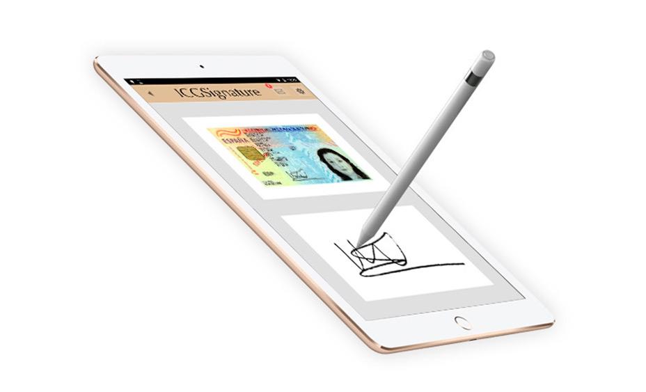 Tablet con software ICG Signature