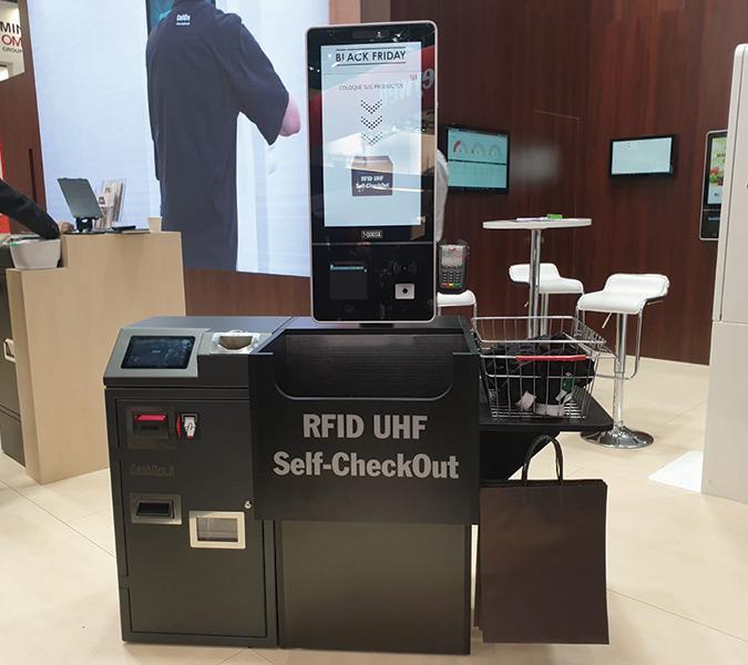 Solución Self Check-Out, dispositivo de autoservicio con tecnología RFID.
